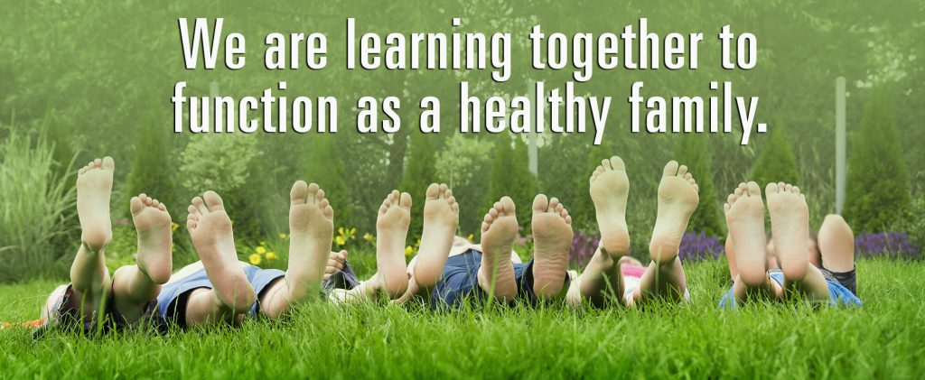 We are learning together to function as a healthy family.